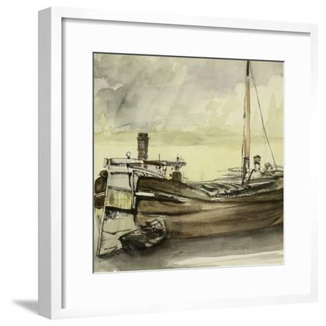 The Barge-Edouard Manet-Framed Art Print