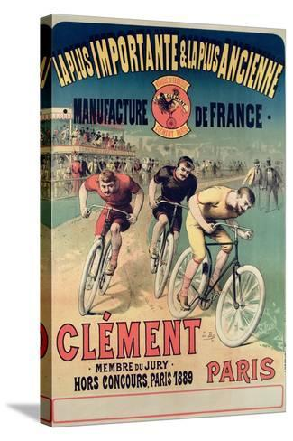 Poster Advertising the Cycles 'Clement', 1891-Lucien Baylac-Stretched Canvas Print