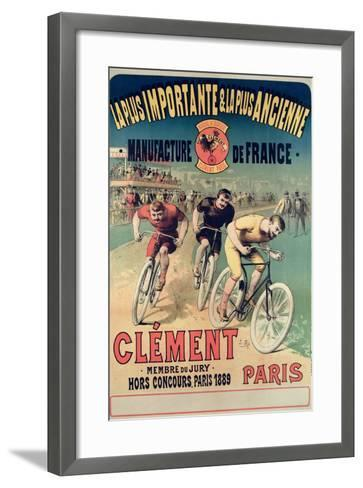 Poster Advertising the Cycles 'Clement', 1891-Lucien Baylac-Framed Art Print