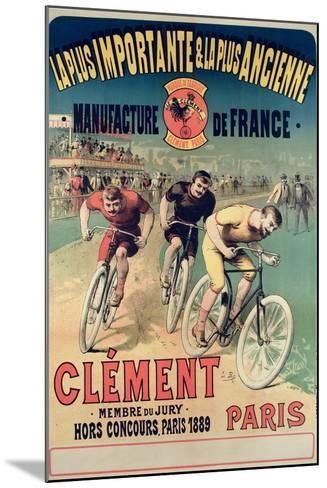 Poster Advertising the Cycles 'Clement', 1891-Lucien Baylac-Mounted Giclee Print