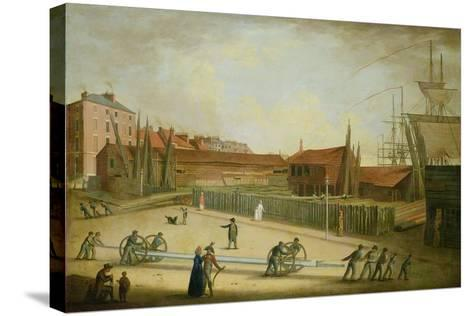 Westerdale's Yard from Saville Street-Robert Willoughby-Stretched Canvas Print