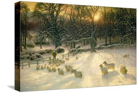 The Shortening Winter's Day Is Near a Close-Joseph Farquharson-Stretched Canvas Print