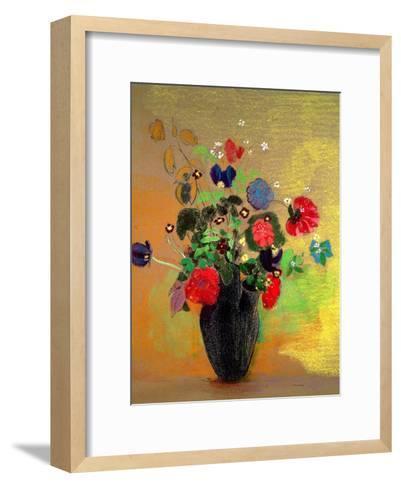 Vase of Flowers-Odilon Redon-Framed Art Print