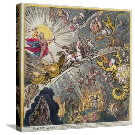 Phaeton Alarm'D, Published by Hannah Humphrey in 1808-James Gillray-Stretched Canvas Print