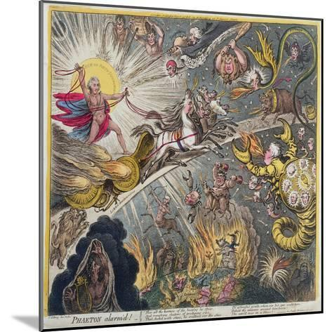 Phaeton Alarm'D, Published by Hannah Humphrey in 1808-James Gillray-Mounted Giclee Print