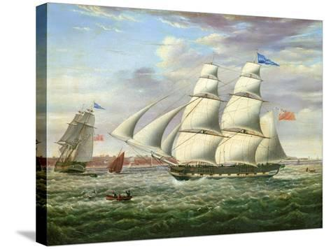 The Barque 'Andromeda' in Two Positions, 1831-Samuel Walters-Stretched Canvas Print