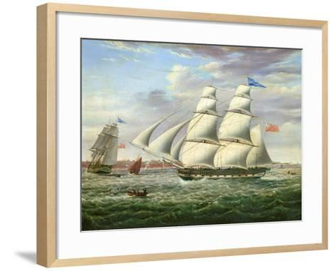 The Barque 'Andromeda' in Two Positions, 1831-Samuel Walters-Framed Art Print