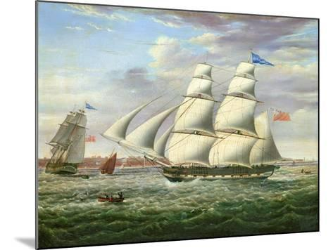 The Barque 'Andromeda' in Two Positions, 1831-Samuel Walters-Mounted Giclee Print