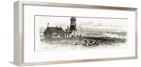 Nantucket Lighthouse, Massachusetts, C.1870, from 'American Pictures', Published by the Religious?--Framed Art Print
