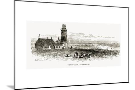 Nantucket Lighthouse, Massachusetts, C.1870, from 'American Pictures', Published by the Religious?--Mounted Giclee Print