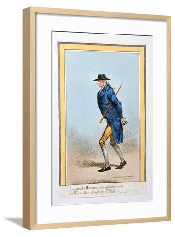 'Gentle Manners, with Affections Mild, in Wit a Man, Simplicity a Child', Published by Hannah…-James Gillray-Framed Art Print