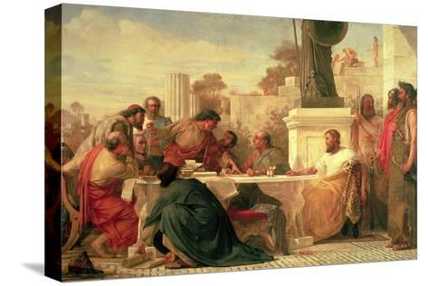 Julian the Apostate (Ad 331-363) Presiding at a Conference of Sectarians, 1875-Edward Armitage-Stretched Canvas Print