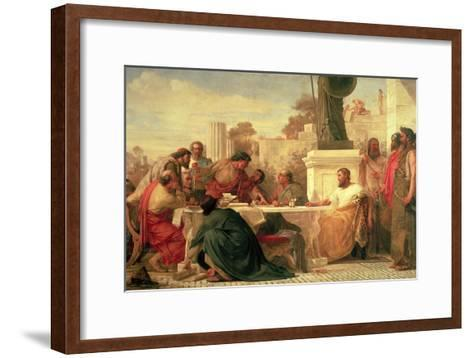 Julian the Apostate (Ad 331-363) Presiding at a Conference of Sectarians, 1875-Edward Armitage-Framed Art Print