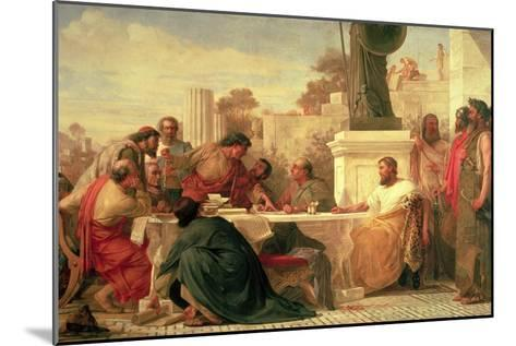Julian the Apostate (Ad 331-363) Presiding at a Conference of Sectarians, 1875-Edward Armitage-Mounted Giclee Print