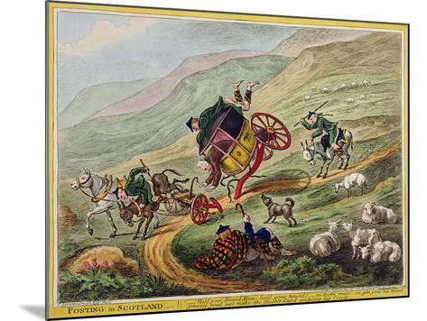 Posting in Scotland, Published by Hannah Humphrey, 1805-Charles Lorraine Smith-Mounted Giclee Print