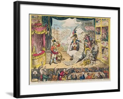 Pacific-Overtures, or a Flight from St. Clouds 'Over the Water to Charley' - a New Dramatic Peace…-James Gillray-Framed Art Print