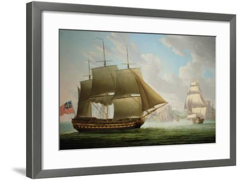 East Indiaman 'Cirencester' Off St. Helena, 1795-Robert Dodd-Framed Art Print
