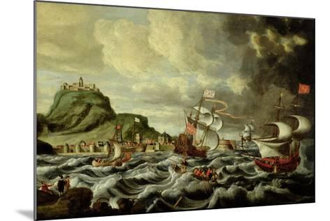 A Harbour Scene, Possibly Genoa-Andries van Eertvelt-Mounted Giclee Print