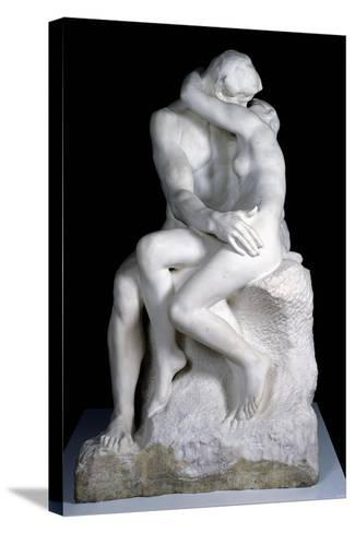 The Kiss, 1888-98-Auguste Rodin-Stretched Canvas Print