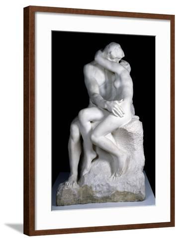 The Kiss, 1888-98-Auguste Rodin-Framed Art Print