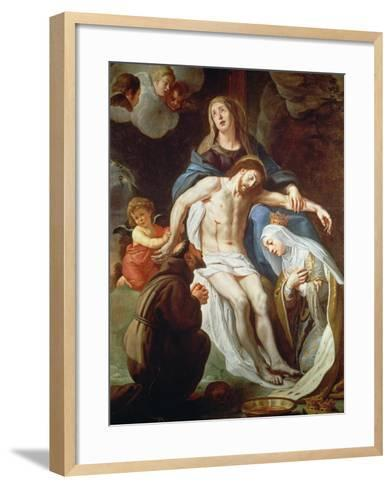 Pieta with St. Francis of Assisi (C.1181-1226) and St. Elizabeth of Hungary (1207-31)-Gaspar de Crayer-Framed Art Print