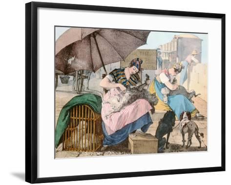 The Dog Groomers, 1820-John James Chalon-Framed Art Print