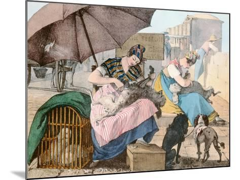 The Dog Groomers, 1820-John James Chalon-Mounted Giclee Print
