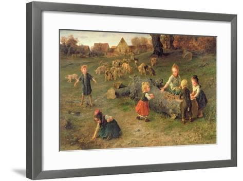 Mud Pies, 1873-Ludwig Knaus-Framed Art Print