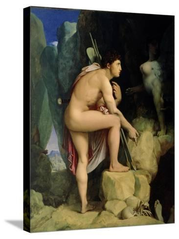 Oedipus and the Sphinx, 1864-Jean-Auguste-Dominique Ingres-Stretched Canvas Print