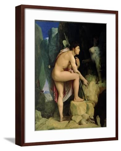 Oedipus and the Sphinx, 1864-Jean-Auguste-Dominique Ingres-Framed Art Print