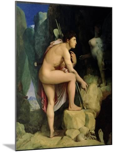 Oedipus and the Sphinx, 1864-Jean-Auguste-Dominique Ingres-Mounted Giclee Print