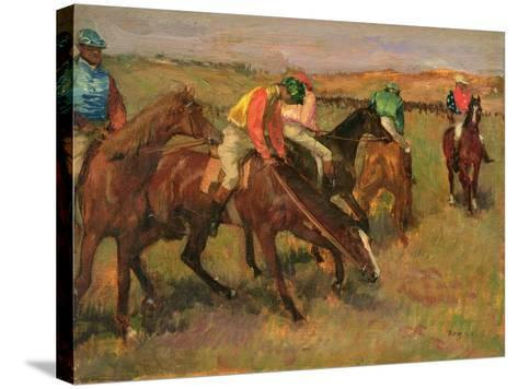 Before the Races, C.1882-Edgar Degas-Stretched Canvas Print