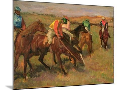 Before the Races, C.1882-Edgar Degas-Mounted Giclee Print