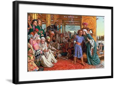 The Finding of the Saviour in the Temple, 1862-William Holman Hunt-Framed Art Print