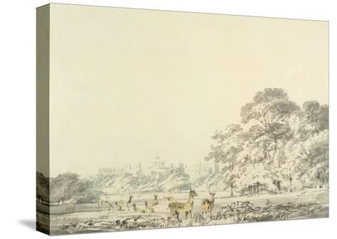 Windsor Castle and Park with Deer-J^ M^ W^ Turner-Stretched Canvas Print