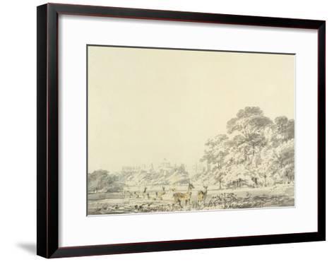 Windsor Castle and Park with Deer-J^ M^ W^ Turner-Framed Art Print