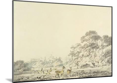 Windsor Castle and Park with Deer-J^ M^ W^ Turner-Mounted Giclee Print