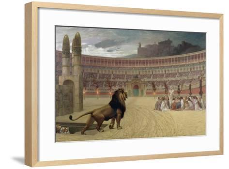 The Christian Martyr's Last Prayer, 1863-83-Jean Leon Gerome-Framed Art Print