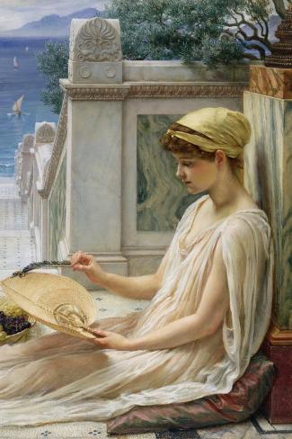 On the Terrace, 1889-Edward John Poynter-Stretched Canvas Print