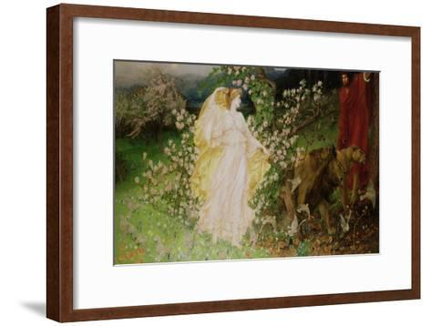 Venus and Anchises, 1889-90-William Blake Richmond-Framed Art Print