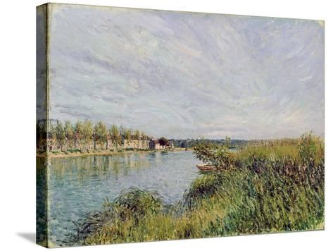 View of Saint-Mammes, C.1880-Alfred Sisley-Stretched Canvas Print