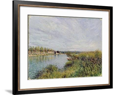 View of Saint-Mammes, C.1880-Alfred Sisley-Framed Art Print