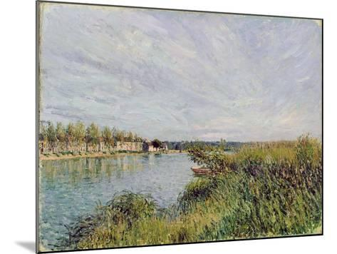 View of Saint-Mammes, C.1880-Alfred Sisley-Mounted Giclee Print