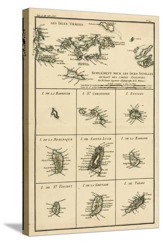 The Virgin Islands, from 'Atlas De Toutes Les Parties Connues Du Globe Terrestre' by Guillaume…-Charles Marie Rigobert Bonne-Stretched Canvas Print