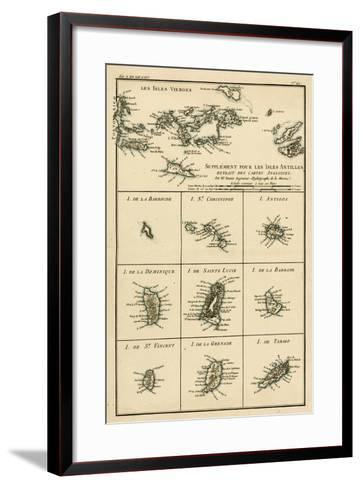 The Virgin Islands, from 'Atlas De Toutes Les Parties Connues Du Globe Terrestre' by Guillaume…-Charles Marie Rigobert Bonne-Framed Art Print