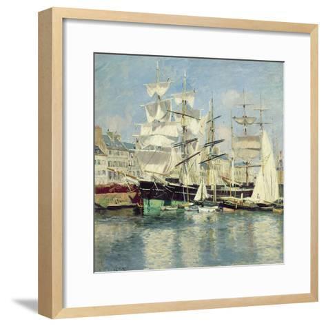 Squared - Riggers in Le Havre, 1886-Johannes Martin Grimelund-Framed Art Print