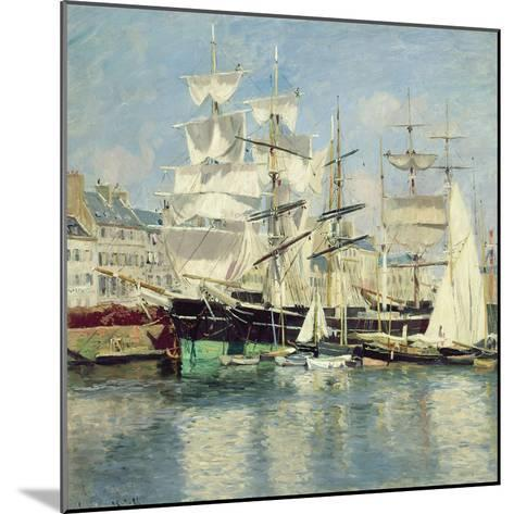Squared - Riggers in Le Havre, 1886-Johannes Martin Grimelund-Mounted Giclee Print