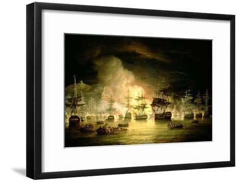 Bombardment of Algiers, August 1816, 1820-Thomas Luny-Framed Art Print