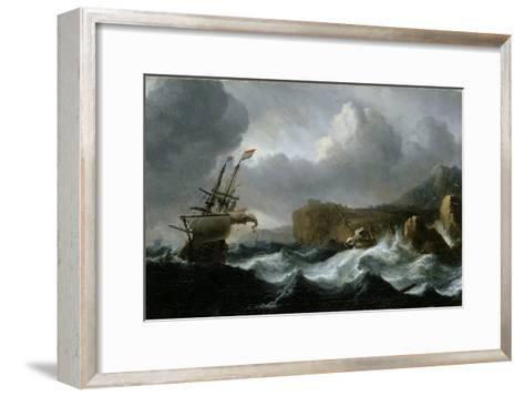 Stormy Sea-Ludolf Backhuysen-Framed Art Print