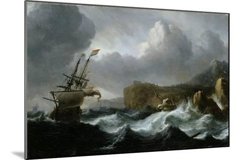 Stormy Sea-Ludolf Backhuysen-Mounted Giclee Print